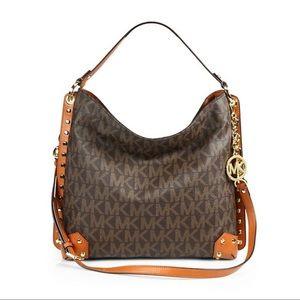 Michael Kors Serena Signature Large Shoulder Bag